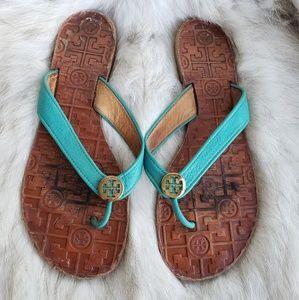 Tory Burch blue thora thong Sandal size 10M
